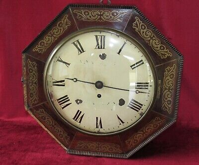 Regency 10in Dial Fusee Clock With Brass Inlay
