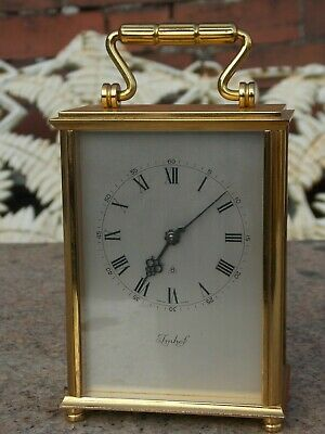 Vintage Imhof 8 Day Heavy Brass Carriage Clock in GWO