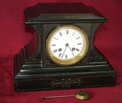Nice French Bell Striking Marble Mantle Clock