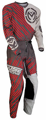 Moose Racing MX Off-Road QUALIFIER Jersey/Pants Kit (Charcoal/Gray/Red)