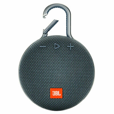 JBL CLIP 3 jblclip3blu Portable Waterproof Bluetooth Speaker in Blue