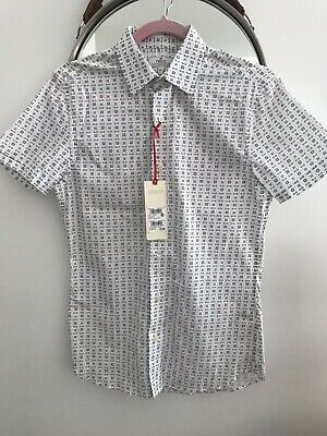 NEXT Mens / Boys Short Sleeve Shirt Size XS BNWT! RRP £29.50!