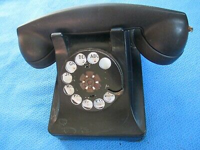 Vintage Metal Western Electric Bell System F1 Rotary Dial Desk Phone Telephone 7
