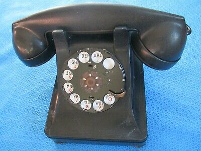 Vintage Metal Western Electric Bell System F1 Rotary Dial Desk Phone Telephone 8