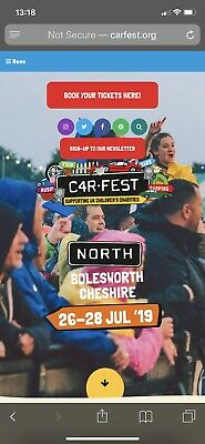 1 ADULT & 2 Kids 6-16 CARFEST NORTH WEEKEND TICKETS FRI SAT SUN without CAMPING