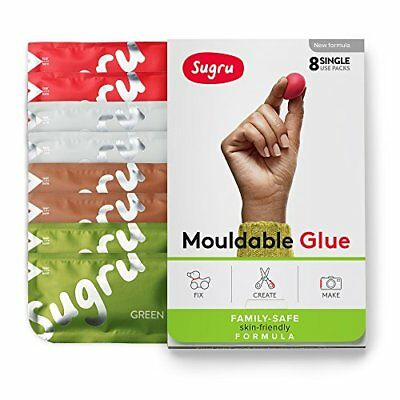 Sugru Moldable Glue - Family-Safe | Skin-Friendly Formula - Earth Colors 8-Pack