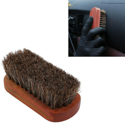 Car Wash Brush Horse Hair Wooden Handle Detailing Tools Products Auto Washing H