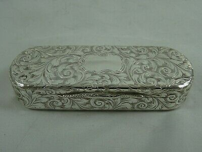 NATHANIAL  MILLS, solid silver SNUFF BOX, 1843, 75gm