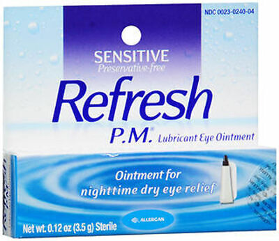 3 Pack - Refresh P.M. Lubricant Eye Ointment 0.12 oz (3.5 g) Each