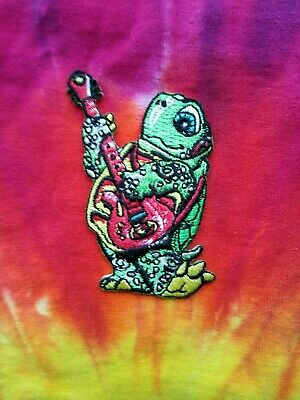 Terrapin Playing The Guitar  2.75 x 2 Inch Iron On Patch