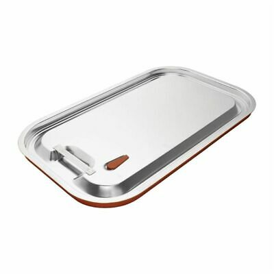 Vogue Stainless Steel and Silicone Sealable 1/1 Gastronorm Lid [CP268]