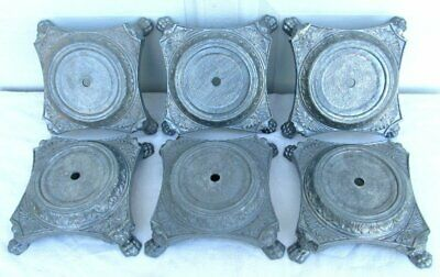 Vintage Antique New Old Stock Raw Cast Metal Art Deco Claw Foot Lamp Base Part