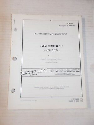 Radar Training AN/APQ-T2A Illustrated Parts Technical Orders Revisions Only