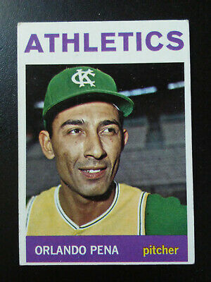 Orlando Pena-1964 Topps-ex/mint-no.124-Kansas City Athletics