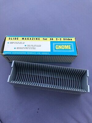 Slide Magazine Gnome..  Braun-type for 36 x 35mm slides - 1970s Boxed Mint Cond