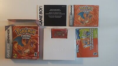 Pokemon FireRed Version (Nintendo Game Boy Advance 2006) Authentic COMPLETE CIB