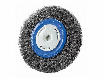 "Crimped Wire Wheel 6"" x 3/4"" x 2"" (1/2"", 5/8""), Carbon Steel"