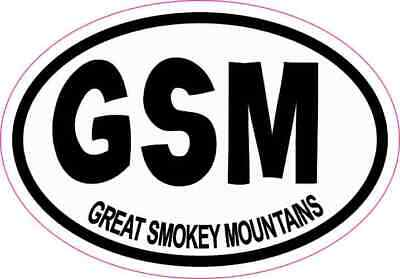 3 x 2 Oval GSM Great Smokey Mountains Sticker Travel Decal Hobby Stickers