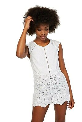 Nouveau Figleaves blanc broderie anglaise Combi-Taille UK 8-18