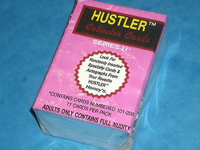 HUSTLER COLLECTORS CARDS 'SERIES II' Complete Base Set Of 100 Trading Cards