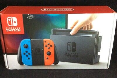 Nintendo Switch 32GB Gray Console with Neon Red and Neon Blue Joy-Con