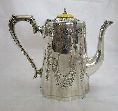 Fine Antique Victorian Sterling silver can shaped coffee pot, 748 grams, 1891