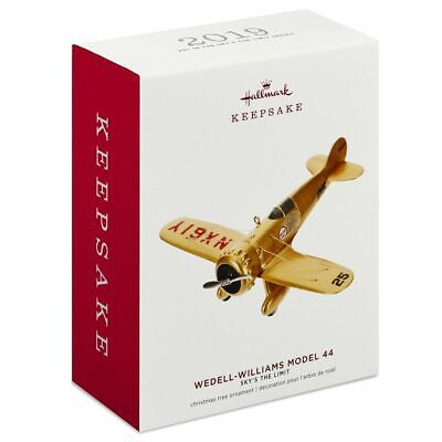 Hallmark Keepsake 2019 Sky's the Limit Wedell-Williams Model 44 Ornament