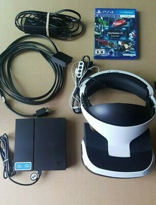 Sony PlayStation VR Headset with Camera and Controls