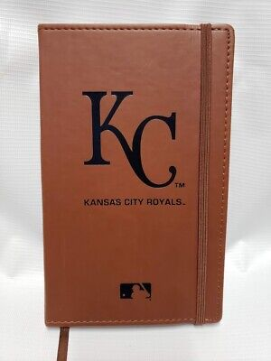 """Kansas City Royals Journal Diary Book Brown with Elastic Closure 9"""" x 6"""" NEW"""