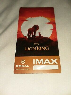 Disney The Lion King IMAX Regal Collectible Ticket # out of 1000 FINAL MARKDOWN