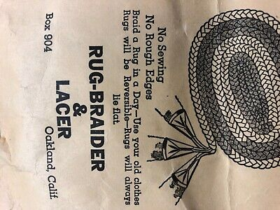 Antique Rug Braider & Lacer - original pack