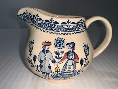 Staffordshire Old Granite Hearts & Flowers Creamer - Pre-owned