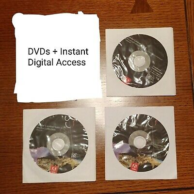 Adobe CS6 Master Collection DVD w/ Serial - International Shipping Available