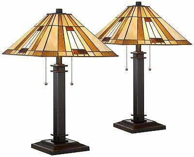 Victorian Tiffany Art Style Antiques Bedroom Accent Floor Lamp Shade Table Home