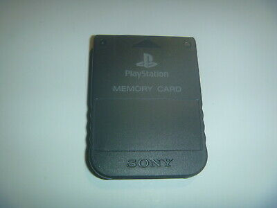 Official OEM Sony Playstation 1 PS1 PSOne Memory Card 1MB SCPH-1020 Black