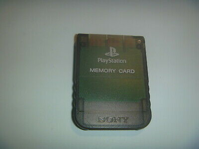 Official OEM Sony Playstation 1 PS1 PSOne Memory Card 1MB SCPH-1020 Clear Black