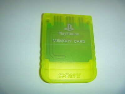 Official OEM Sony Playstation 1 PS1 PSOne Memory Card 1MB SCPH-1020 Lime Green