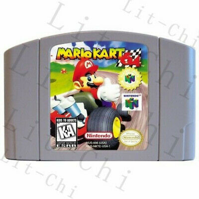 New Nintendo N64 Game Mario Kart 64 Video Game Cartridge Console Card US Version
