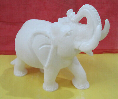 Lovely Indian Beautiful Handmade Marble Elephant Statue Home Decor