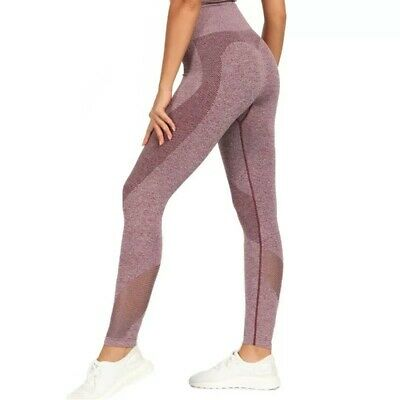 Womens High Waist Yoga Pants Gym Leggings Ladies Sportswear Running 8/10