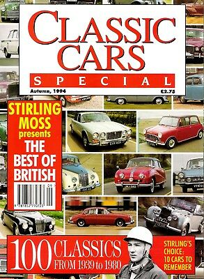 Classic Cars Special Magazine Autumn 1994 Stirling Moss 1939 to 1980 Classics