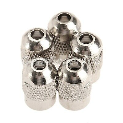 5pc Silver Electric Mill Shaft Screw Cap Collet Grinder Rotary Tool M8x0.75mm HQ