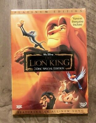 The Lion King DVD Brand New Item Disney Free USPS Shipping