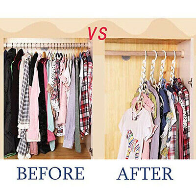 8 Pack Magic Organizer Clothes Closet Wardrobe Hanger Hook Plastic Space Save