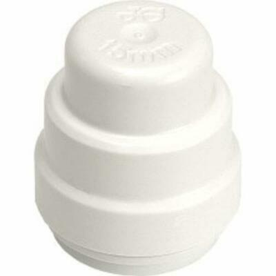 JG Speedfit Stop End - White 15mm 10 Pack