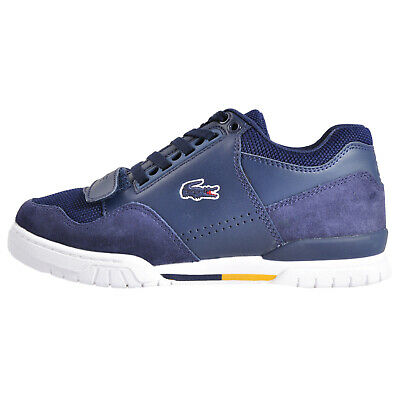 Lacoste Missouri G117 2 Leather Mens Classic Retro Trainers Shoes Navy