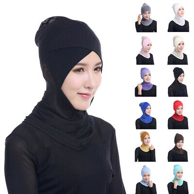 Inner-cap Head Cover Under Modal Islamic Neck Stretchy Hat Multi-Color