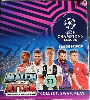UEFA Champions League Match Attax 18/19 Trading Cards  30 Packs Full Box new