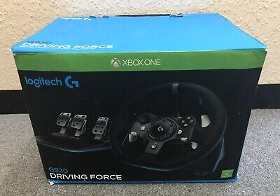 Logitech G920 Driving Force Racing Wheel For Xbox One And Pc.