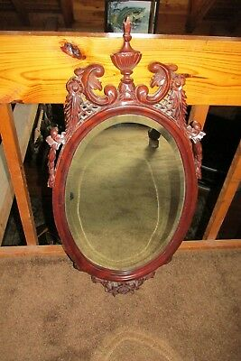 Vtg Large Ornate Wall Mirror~Hollywood Regency ~ Wood